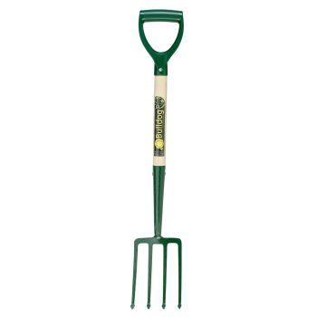 """Bulldog Premier Junior Digging Fork 25"""" - 4 Prongs - Plastic D Handle - 5788042510"""