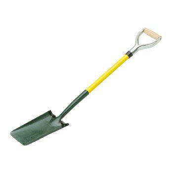 "Bulldog Powerlite Cable Laying Shovel (Treaded) 28"" - Metal YD Handle - Ash Grip - 5CLPLR"