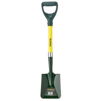 """Bulldog Mini Fiberglass Square Mouth Shovel - D Shape Handle 31"""" - MINISQ"""