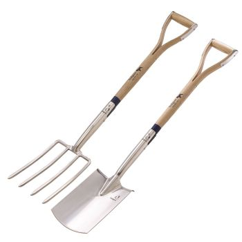 Bulldog Digging Fork and Spade TWIN PACK
