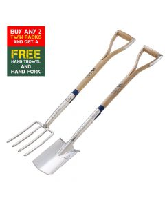 Bulldog Border Fork and Spade TWIN PACK