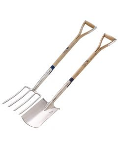 Bulldog Long Handle Digging Fork and Spade TWIN PACK