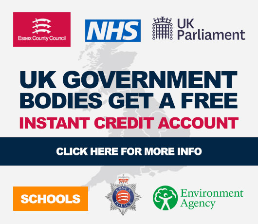 Government Bodies Get a FREE Instant Credit account